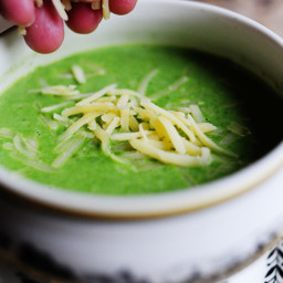 Spinach Soup with Gruyere