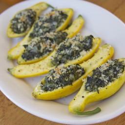 Spinach-Stuffed Squash (Louisiana Entertains)