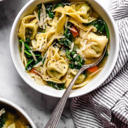 Spinach Tortellini en Brodo