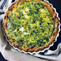 Spinach Turkey Bacon Quiche