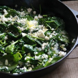 Spinach with Feta and Lemon