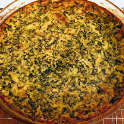 Spinach and Smoked Gouda Crustless Quiche