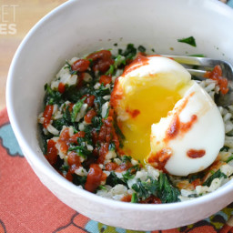 Spinach Rice Breakfast Bowls