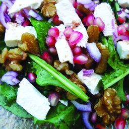 Spinich and Pomegranate salad