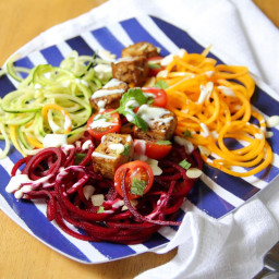 Spiralised Salad with Sichuan Spiced Tofu