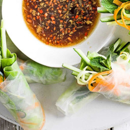 Spiralized summer rolls