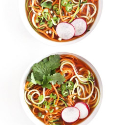 Spiralized Vegetarian Pho-Style Soup