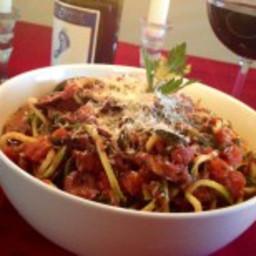Spiralized Zucchini Pasta Puttanesca