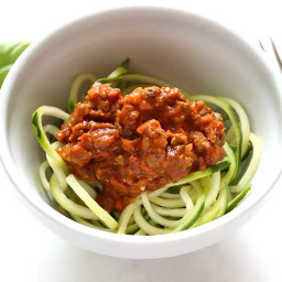 Spiralized Zucchini with Chunky Tomato Sauce Recipe