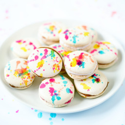 Splatter Painted French Macarons