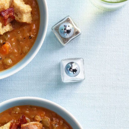 Split Pea and Tomato Soup with Bacon