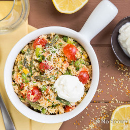 Spring Couscous Primavera with Whipped Ricotta