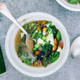 Spring Egg Drop Soup