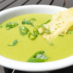 Spring Onion, Pea and Parmesan Soup