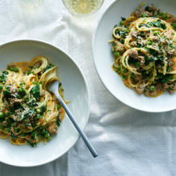 Spring Pasta Bolognese With Lamb and Peas