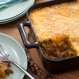 Spring Shepherd's Pie with Cremini Mushrooms and English Peas