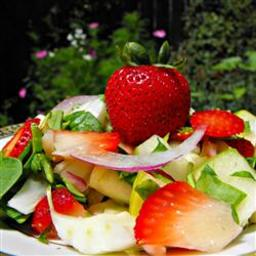 Spring Strawberry Spinach Salad
