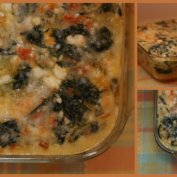 Spring Vegetable Cheesy Breakfast Bake