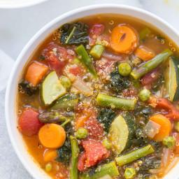 Spring Vegetable Quinoa Minestrone