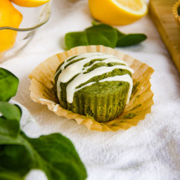 Springtime Lemon Zest Spinach Muffins
