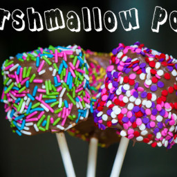 Sprinkle Covered Marshmallow Pops