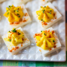 Square Deviled Eggs