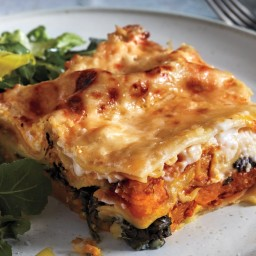 Squash Lasagna with Spinach