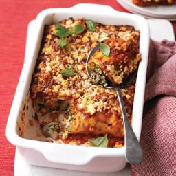 Squash, spinach and ricotta cannelloni