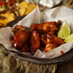 Sriracha & Bourbon Chicken Wings Recipe