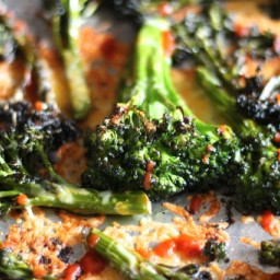 Sriracha Roasted Broccoli with Cheddar Cheese