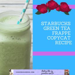 starbucks green tea frappe copycat recipe