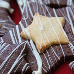 Starry Night Marzipan Cookies