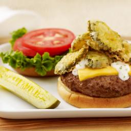 State Fair Fried Pickle Burger