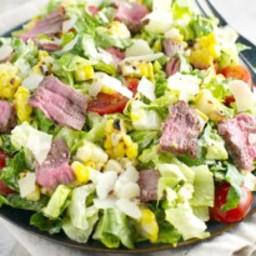 Steak and Corn Caesar Salad