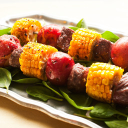 Steak and Corn Kabobs
