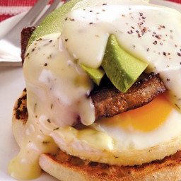 Steak and Eggs Benedict with Avocado