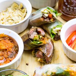 Steak and Kimchi Summer Rolls