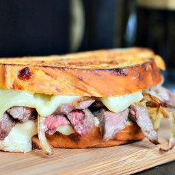 Steak and Onion Grilled Cheese
