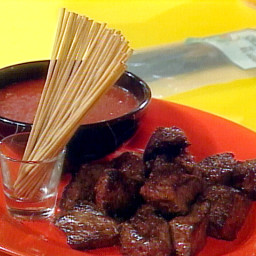Steak Bites with Bloody Mary Dipping Sauce