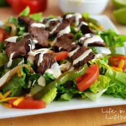 Steak Fajita Salad with Chipotle Ranch Dressing