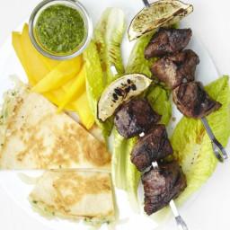 Steak Kebabs with Quesadillas