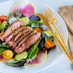 Steak Salad with Shoyu Dressing