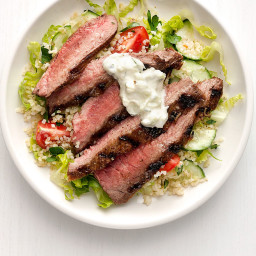 Steak Salad with Tzatziki
