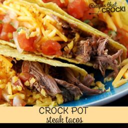 Steak Tacos {Crock Pot}