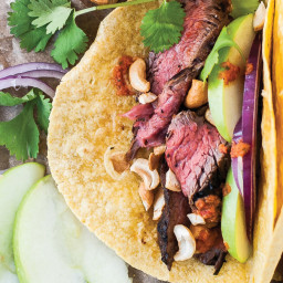 Steak Tacos with Apples and Cilantro