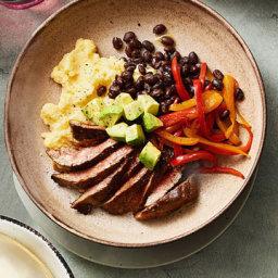 Steak, Polenta and Avocado Bowl