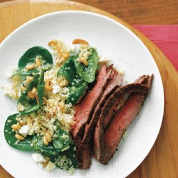 Steak with Spinach Couscous