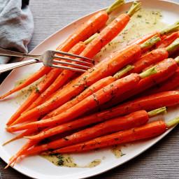 Steamed Carrots with Lemon-Dill Vinaigrette