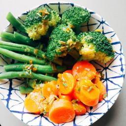 Steamed Vegetables w/ Lemon Chive Butter (Low FODMAP, GF)