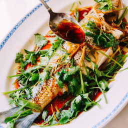 Whole sea bass bigoven for Steamed whole fish